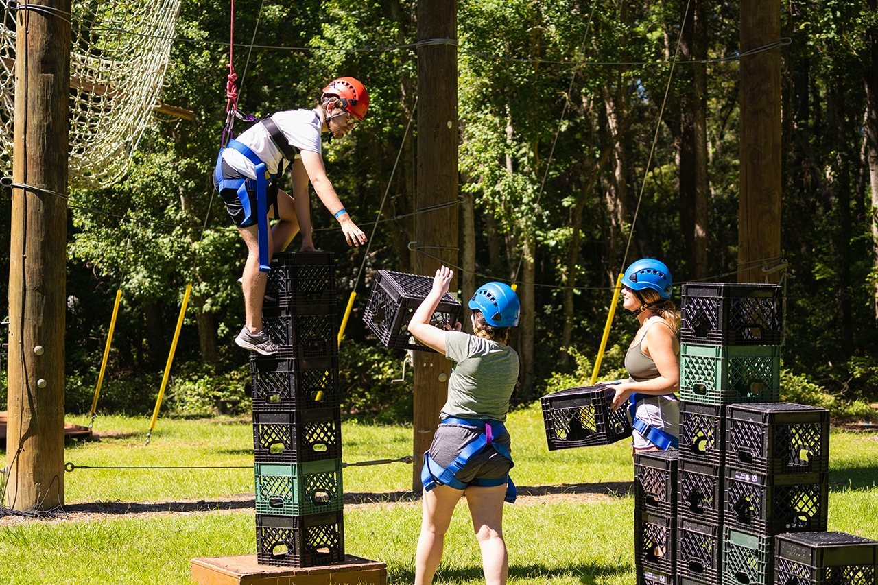 College of Charleston students participate during Play in the Park day at James Island County Park.