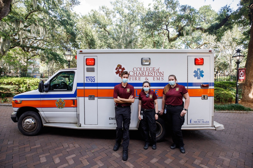 As one of the only active 911 collegiate EMS groups in the country The College of Charleston's student-run EMS group run's a free of charge 911 ambulance service for those on the Charleston peninsula from 5pm to 7am every night. The program is credited with propelling many participating students into medical and PA school.