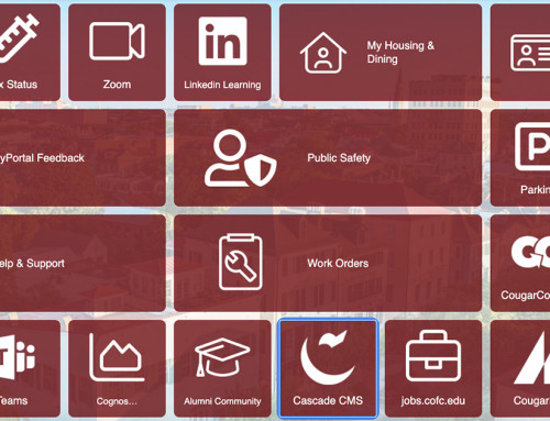 Software Upgrades to Provide Easier Access for CofC Community