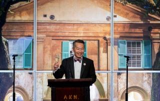 cofc president andrew hsu at the 2019 alumni awards gala