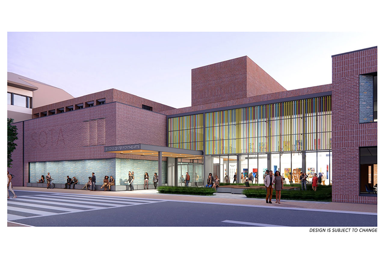 rendering of the renovation of the simons center