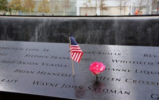 names on the 9/11 memorial in New York City